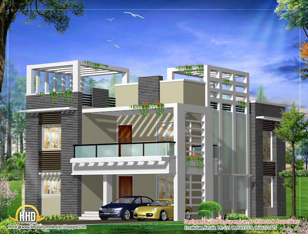 Merveilleux Inspiring Mind Blowing Designs Houses Home Kerala Plans Unique Sq Feet  Villa Elevation Kerala Home Design Floor   Home Design   Pinterest   House  Elevation, ...
