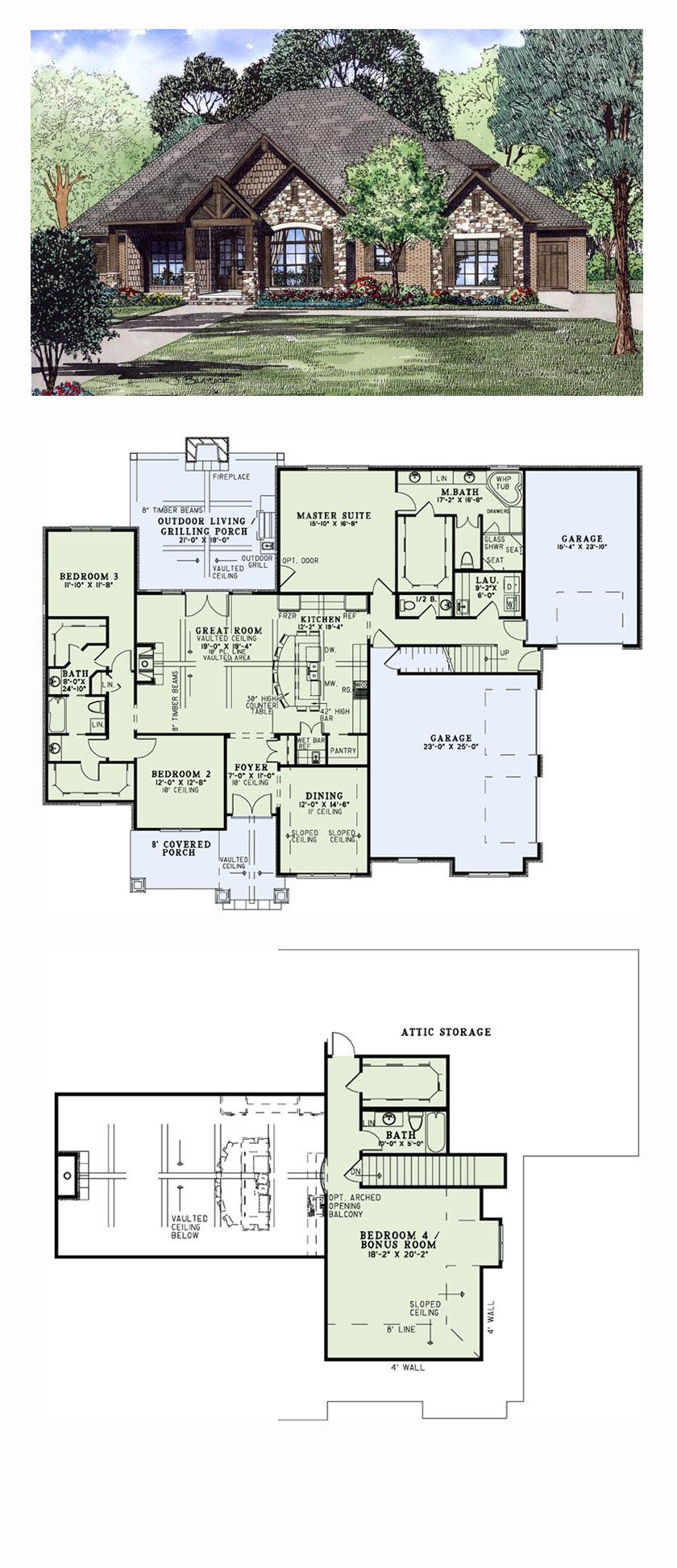 Craftsman Style COOL House Plan ID chp 54419