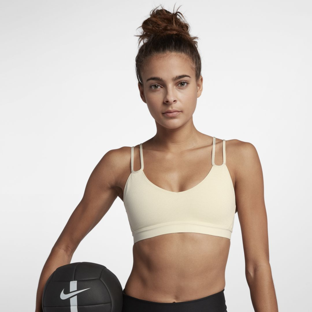 0a94f3996141b Nike Indy Sparkle Women s Light Support Sports Bra Size XL (Light Cream)