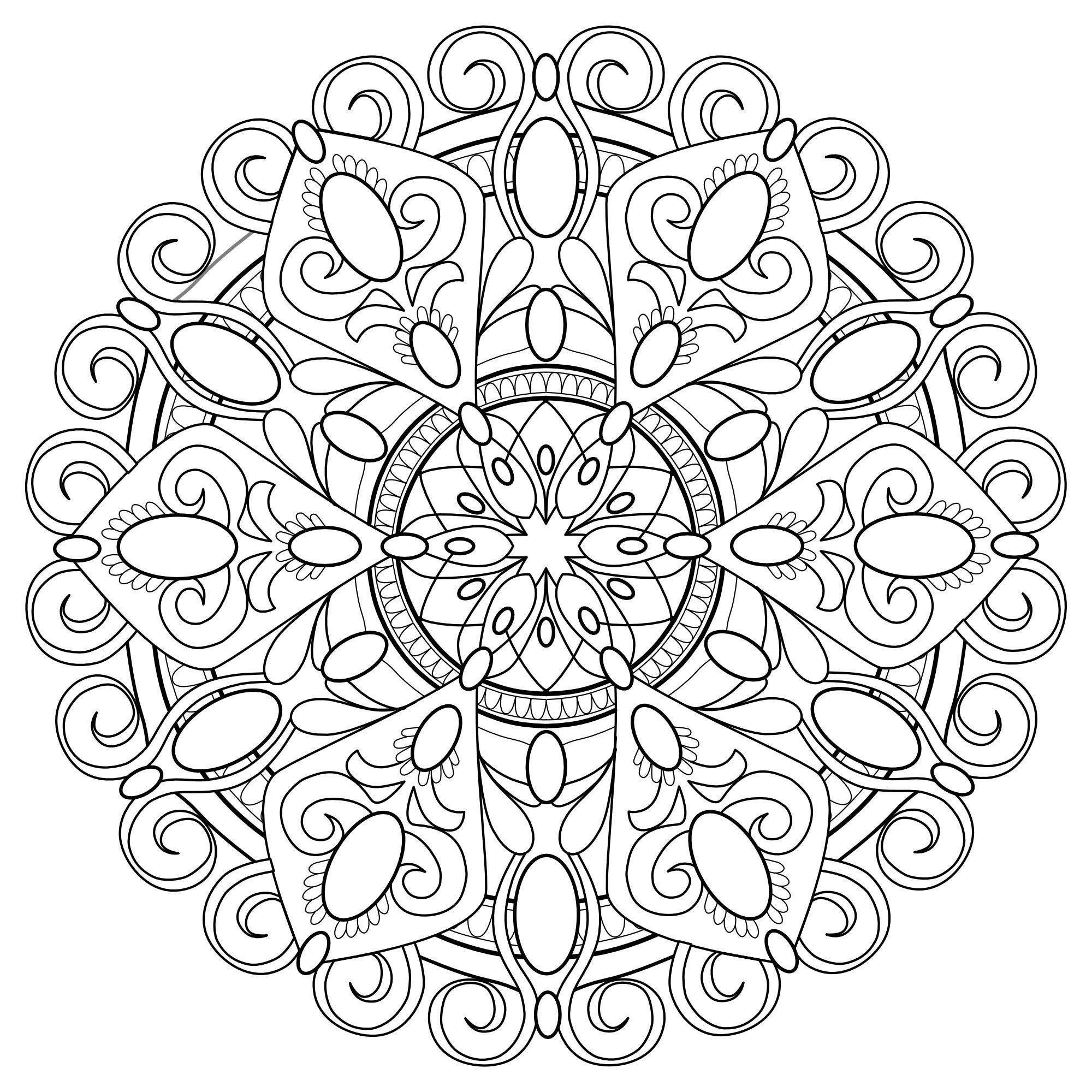 Mandala Madness Coloring Book No.4 - 5 printable PDF ...