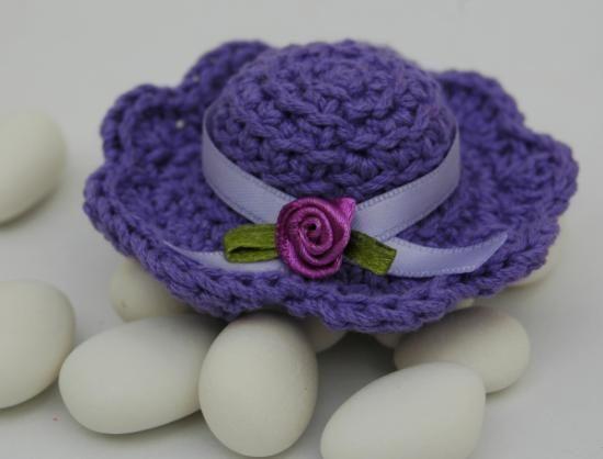 wedding souvenir crochet hat para boda gorrito de ganchillo
