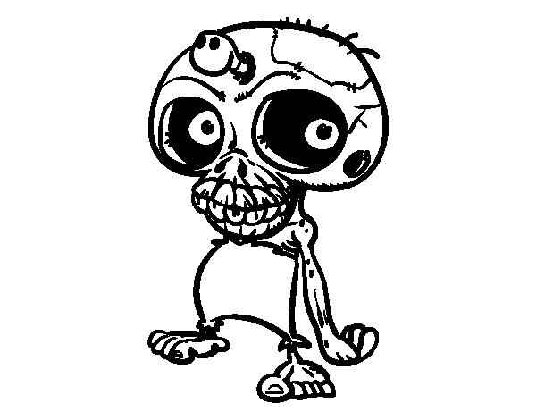 Dibujo de Calavera zombie para Colorear   nico en 2018   Pinterest ...