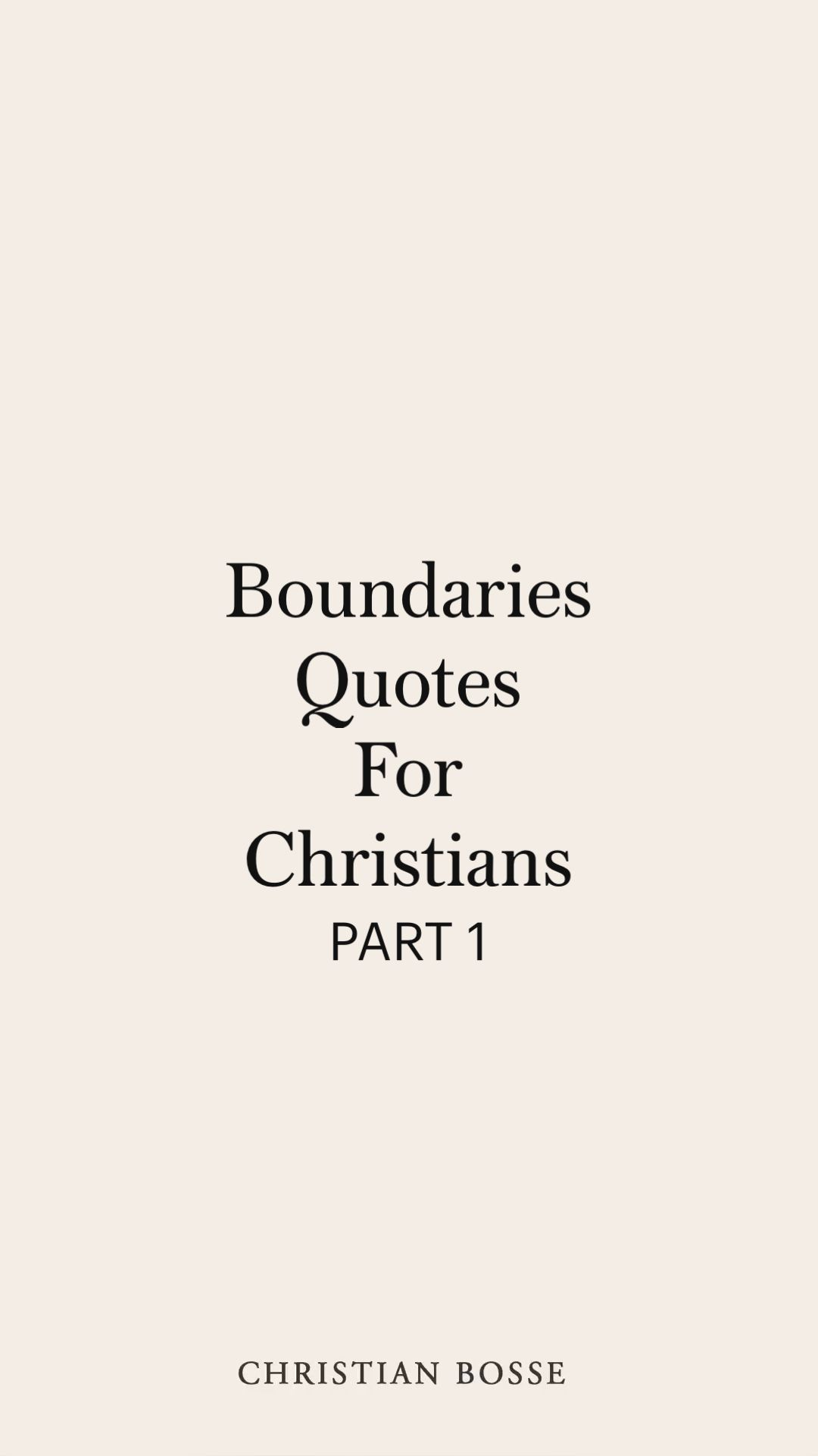 Boundaries Quotes For Christians
