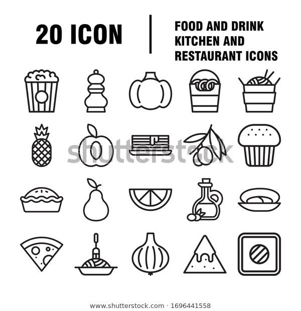 Food Drinks Icon Restaurant Line Icons Stock Vector Royalty Free 1696441558 Drink Icon Line Icon Restaurant Icon
