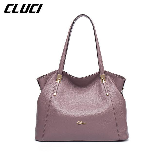 f995200de0 CLUCI Women Handbag Real Genuine Leather Fashion Black Blue Red ...