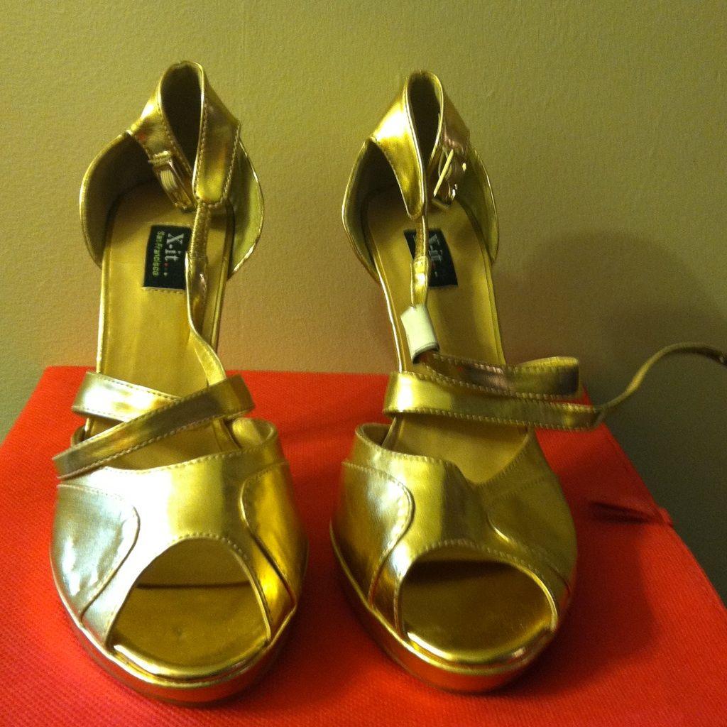 Beautiful Gold Shoes