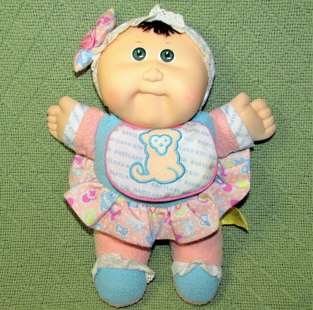 Vintage Cabbage Patch Hasbro Babyland Kids Rattle 1988 Stuffed Green Eyes Toy Hasbrocabbagepatch Trinidad And Tobago Green Eyes Kids