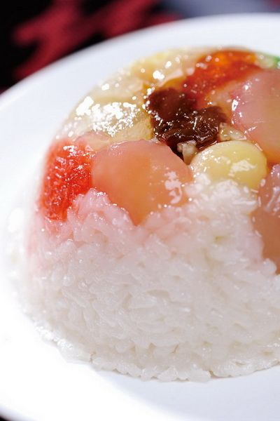 #rice #dessert #lychee #fruit #jelly This could either be ...