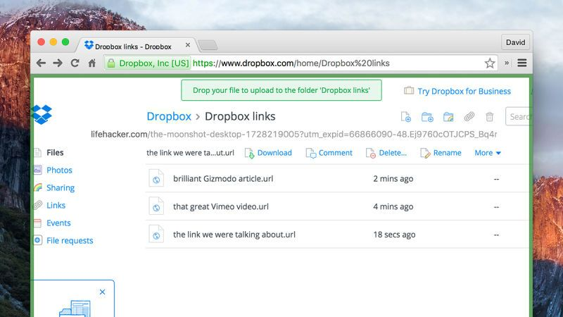 Use #Dropbox to Keep a Shared List of Links or Bookmarks