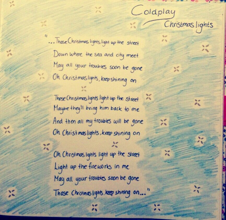 Christmas lights- Coldplay (it's in my journal/scrapbook:)) - Christmas Lights- Coldplay (it's In My Journal/scrapbook