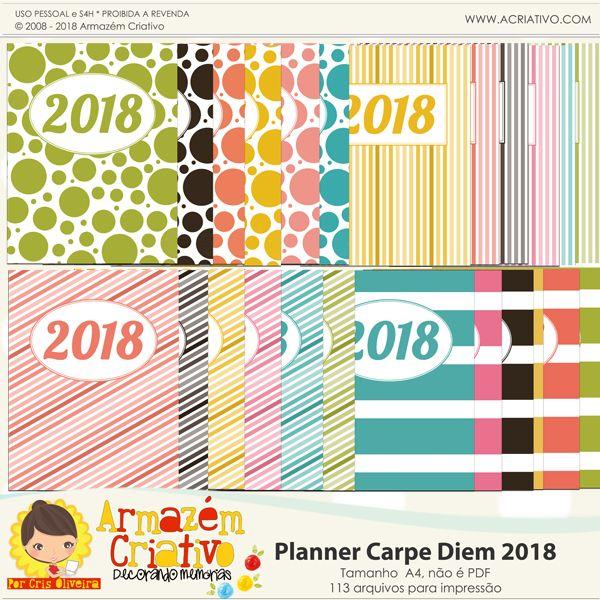 Planner 2018 para impressão - Armazém Criativo