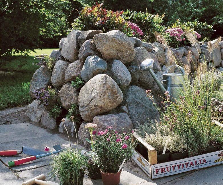 gartenbegrenzung mit einer trockenmauer: ein friesenwall hält ewig, Garten und erstellen