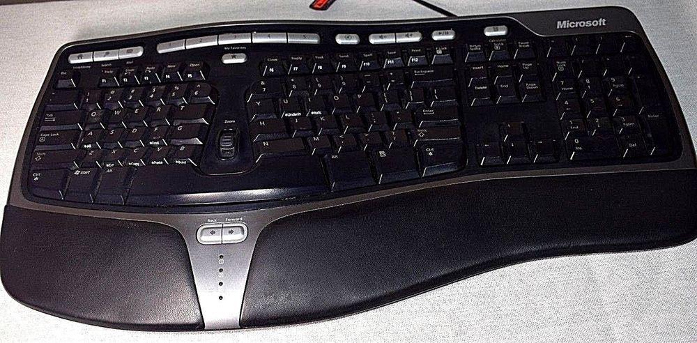 Microsoft Natural Ergonomic Keyboard 4000 V1 0 Usb Ku 0462 X823051 001 Microsoft Keyboard Computer Keyboard Ergonomics