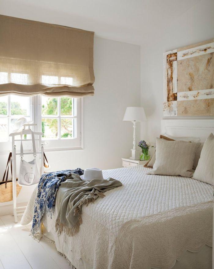 Idée pour lassociation couleur beige avec blanc aménagement de la chambre à coucher