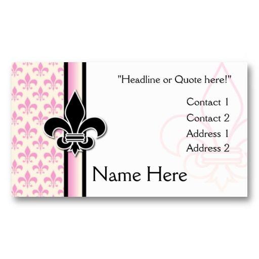 Fleur de lis business card template fleur de lis business cards fleur de lis business card template colourmoves
