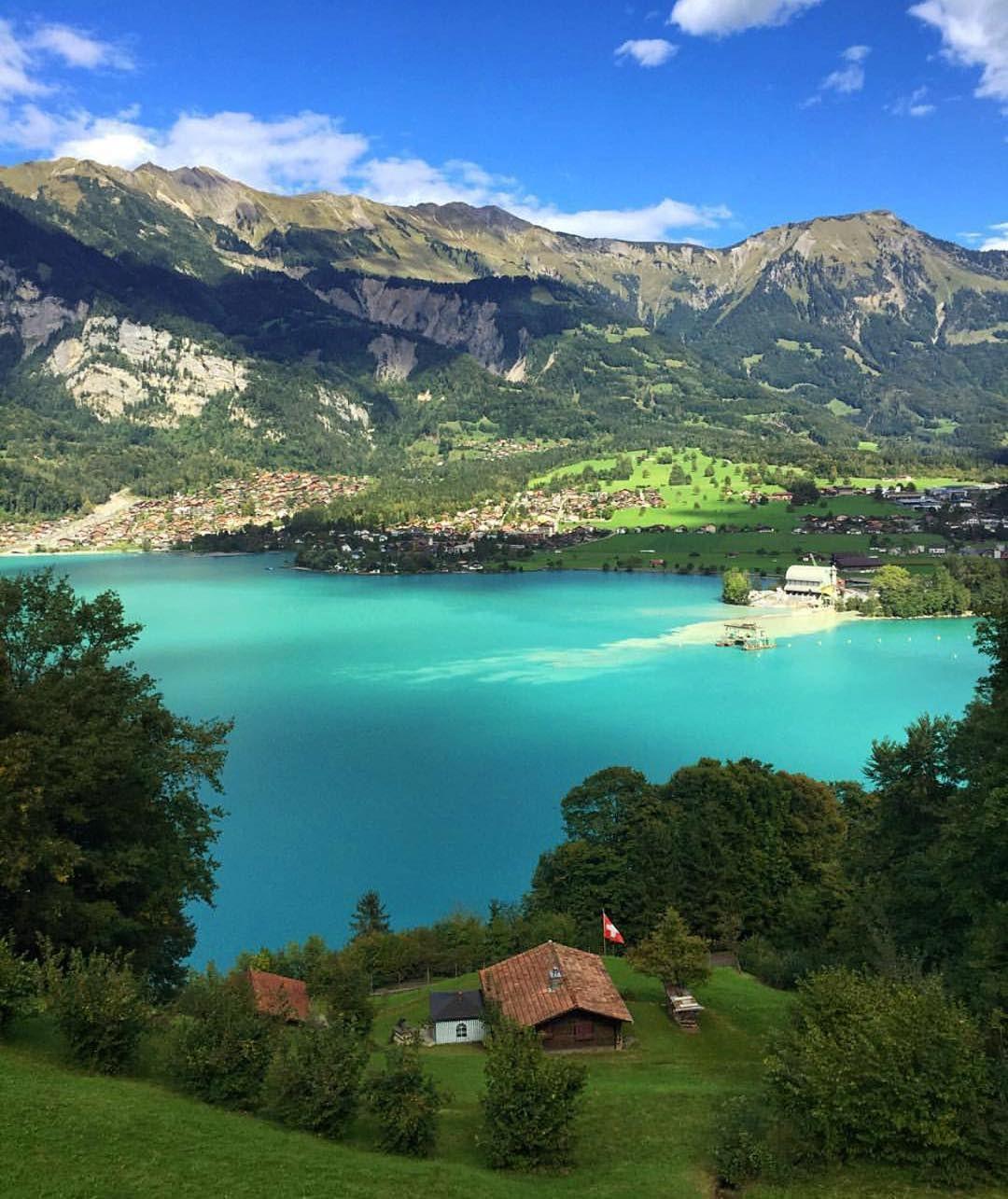 """# #Switzerland_Vacations. Location: Lake #Brienz, (Good Morning☕️). Photo Credit:  © By ✨ @Khalid7655 ✨…"""