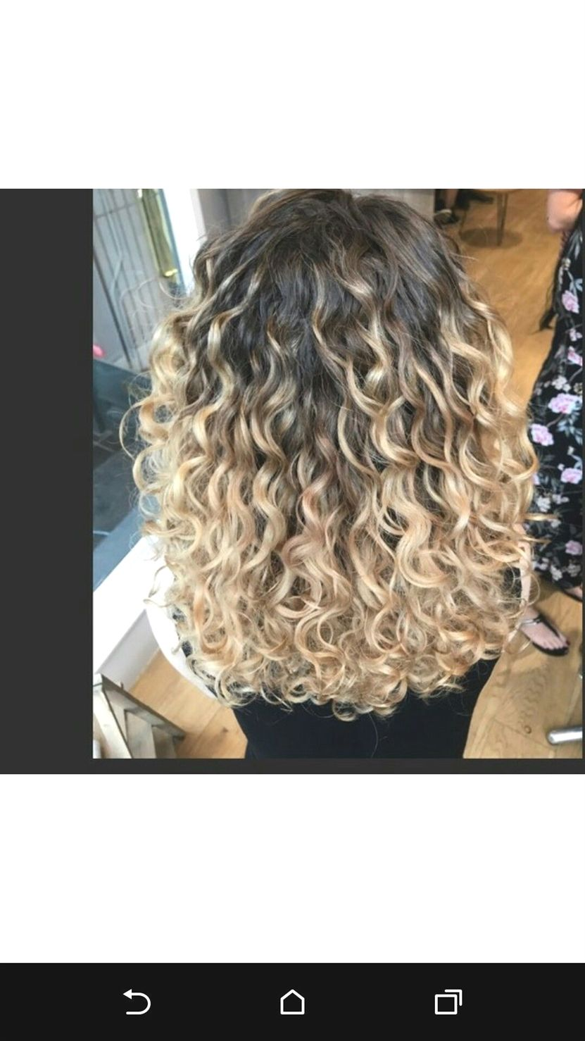 Blondeombre Ombre Curly Hair Curly Balayage Hair Balayage Hair
