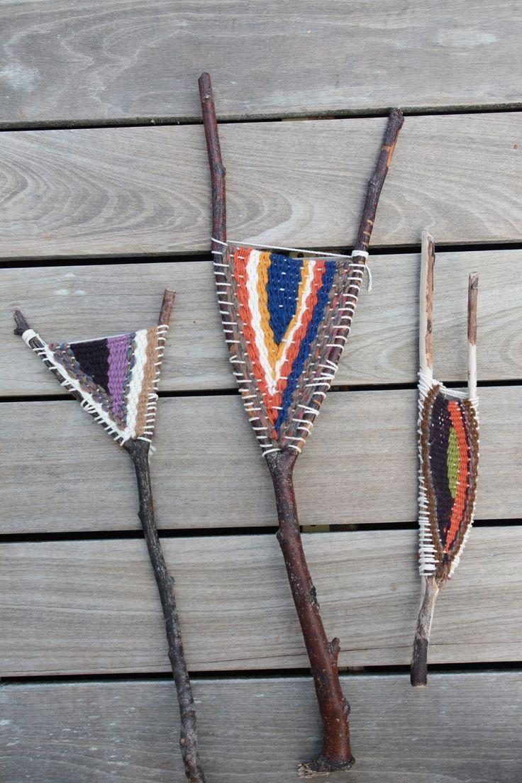 25 + › Stick Webstuhl Weben #weaving