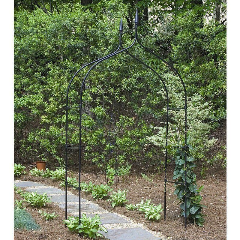 Gardman Gothic Arch 8 Ft Steel Arbor Gardening Garden Arbor