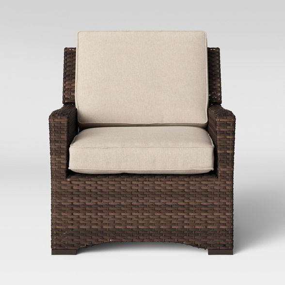 Weather Wicker Patio Club Chair, All Weather Wicker Outdoor Furniture
