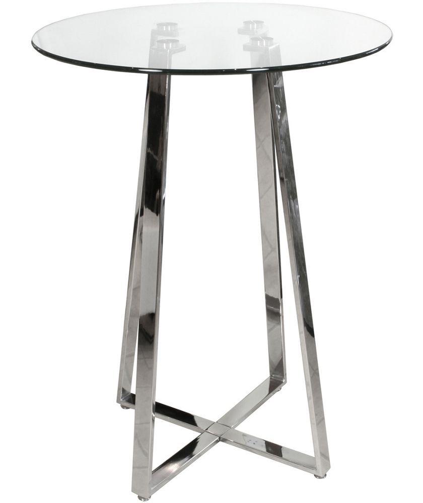 Buy Febland Poseur 4 Leg Base Glass Table