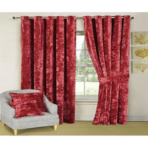 Thermovorhang-Set Santiago mit Ösen, blickdicht Textile Home Vorhanggröße: 117 cm B x 182 cm L, Farbe: Rot