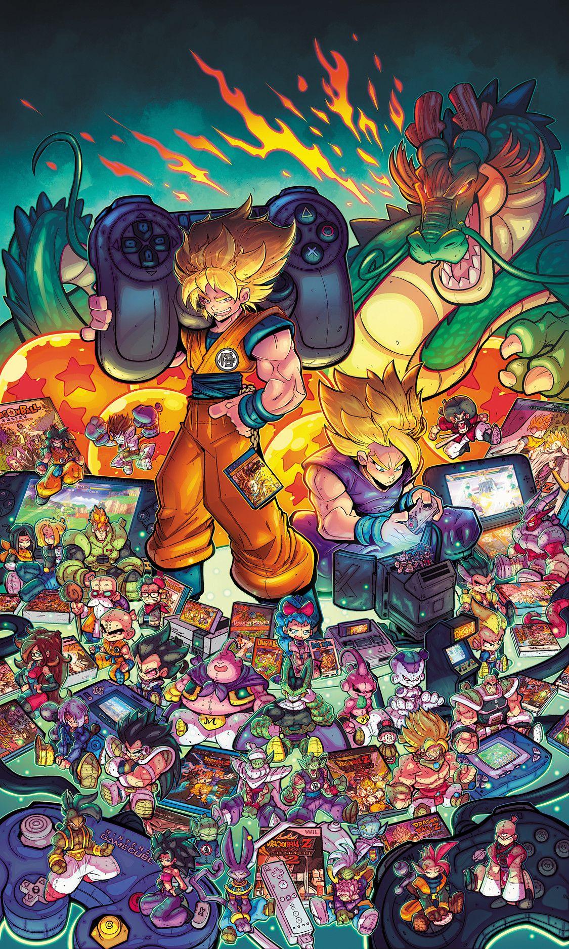 ArtStation Dragonball Tribute The Game Magazine Cover
