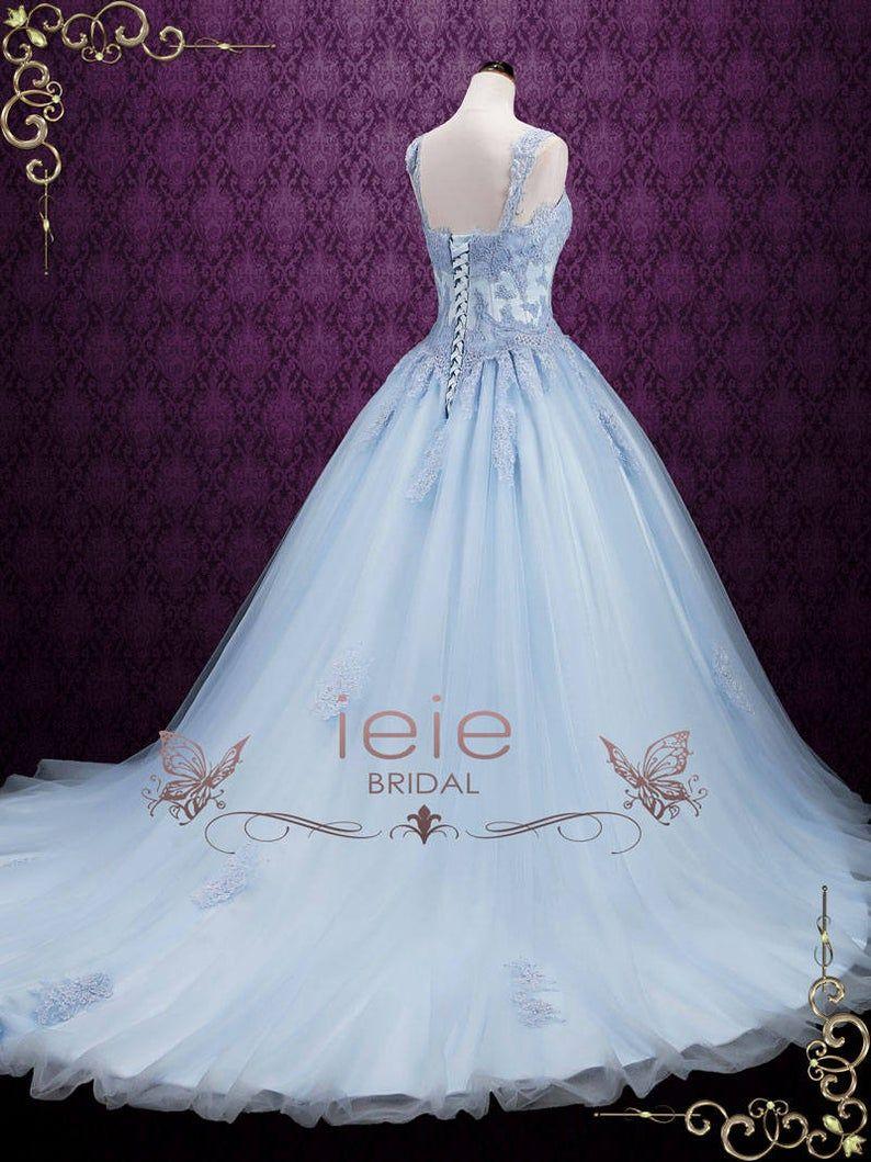 Blue Wedding Dress Cinderella Wedding Dress Princess Wedding Etsy Ball Gowns Wedding Princess Wedding Dresses Cinderella Ball Gown Wedding Dress [ 1059 x 794 Pixel ]