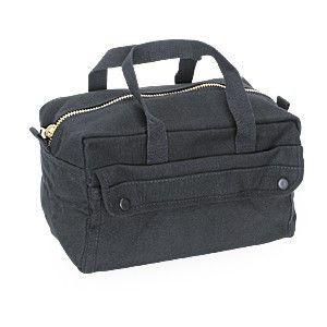 Tool Bag With Brass Zipper Canvas Jumbo  Black 8150 Rothco