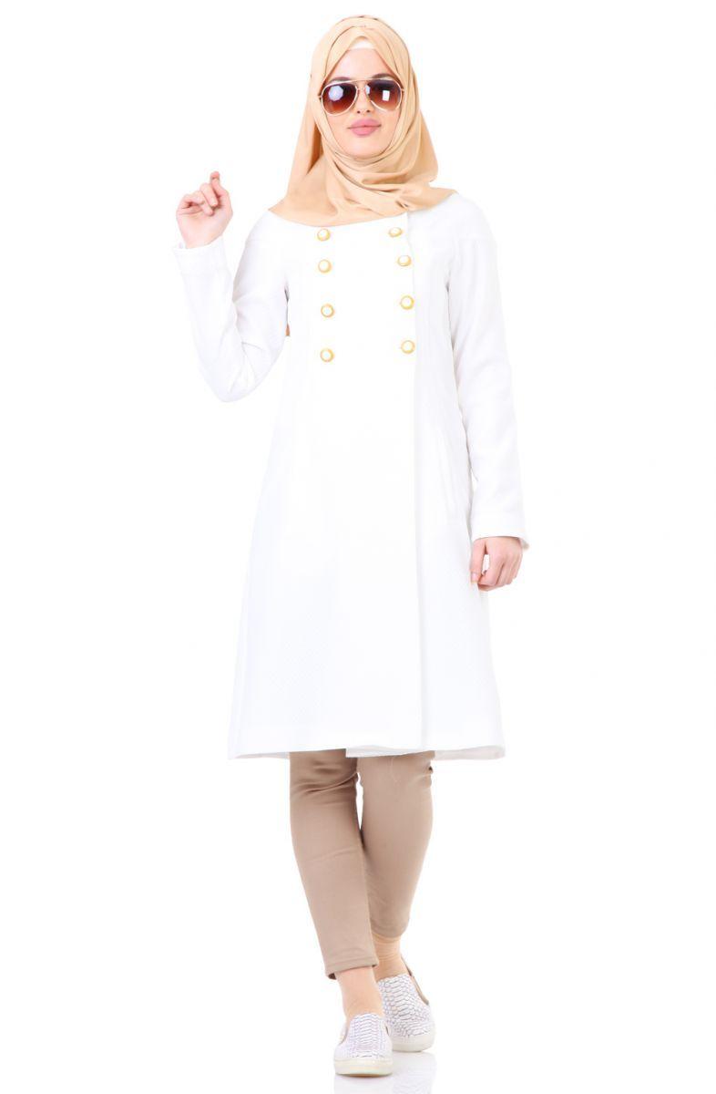 Tugba Dugmeli Kap F5154 Ekru Sitemize Tugba Dugmeli Kap F5154 Ekru Tesettur Elbise Eklenmistir Https Www Yenitesetturmodelleri Com Yeni Elbise Giyim Stil