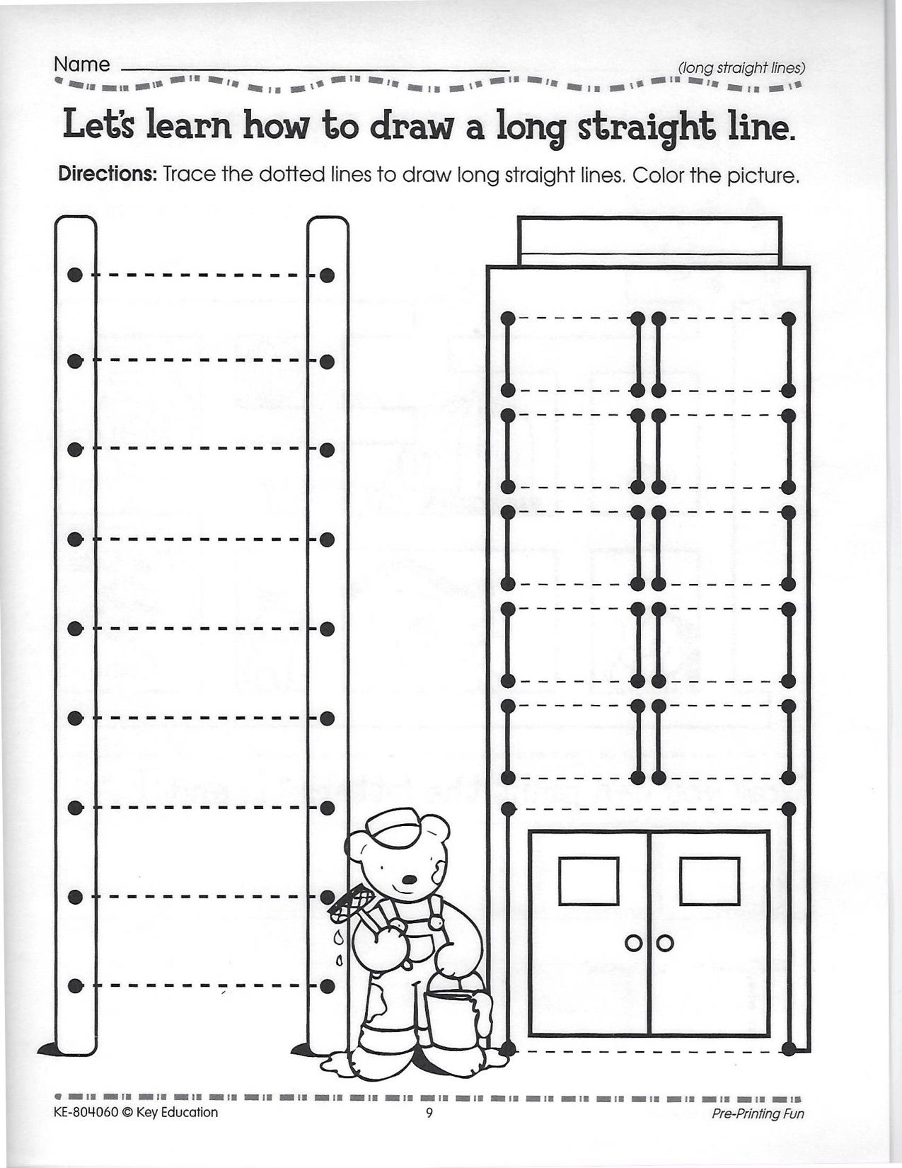 Dotted Line Tracing Worksheet