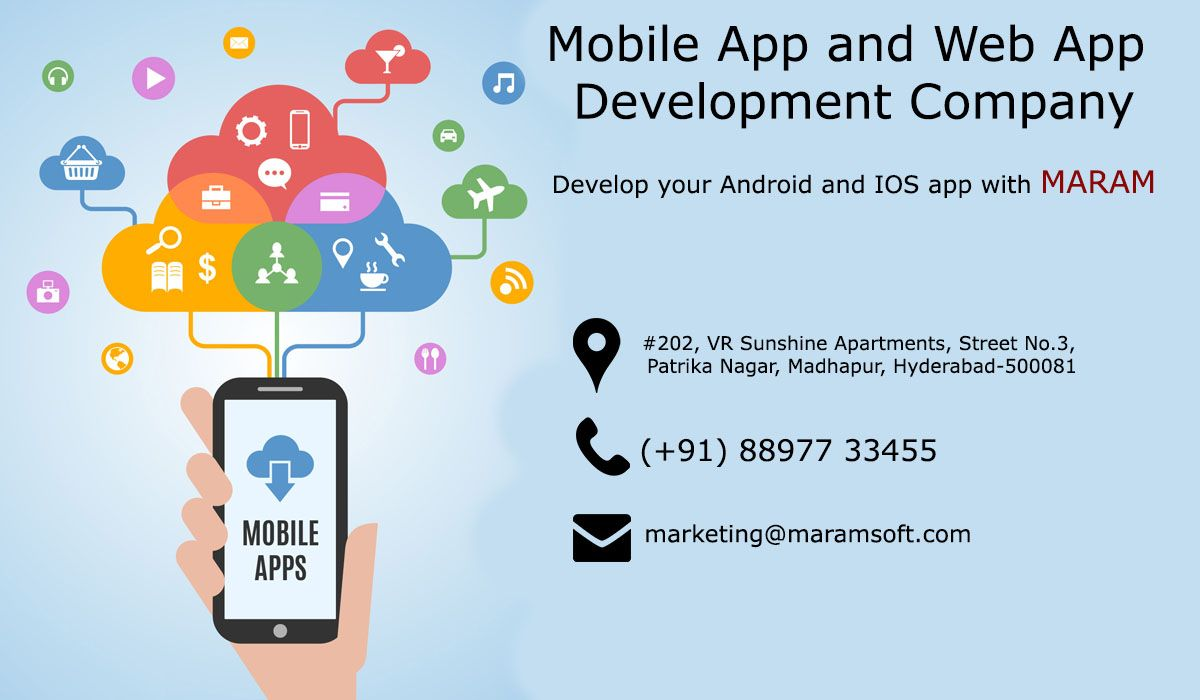 We build mobile app for your business. Maram Software