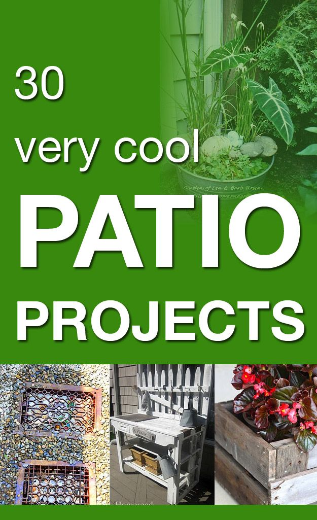 30 very cool patio projects - the ladder chandelier is my favorite!