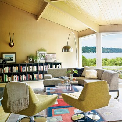 Retro Living Room Chairs elegant pacific northwest homes | mid century, living rooms and