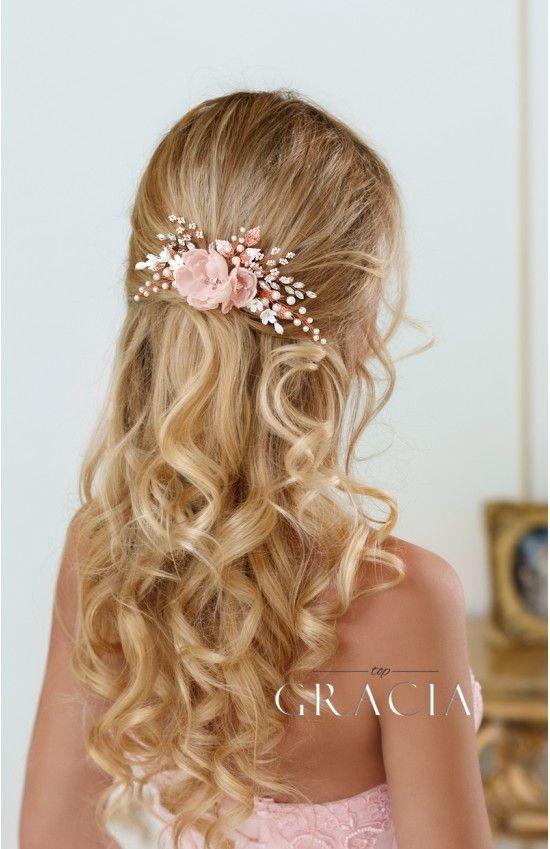 Olia rose peach blush bridal silk hair flower comb peach blush olia rose peach blush bridal silk hair flower comb peach blush blush bridal and flower mightylinksfo