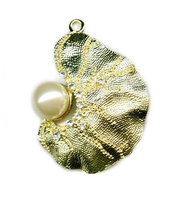 Blue moon beads pendant biomorph gold w pearl blue moon moon and blue moon beads pendant biomorph gold w pearl aloadofball Images