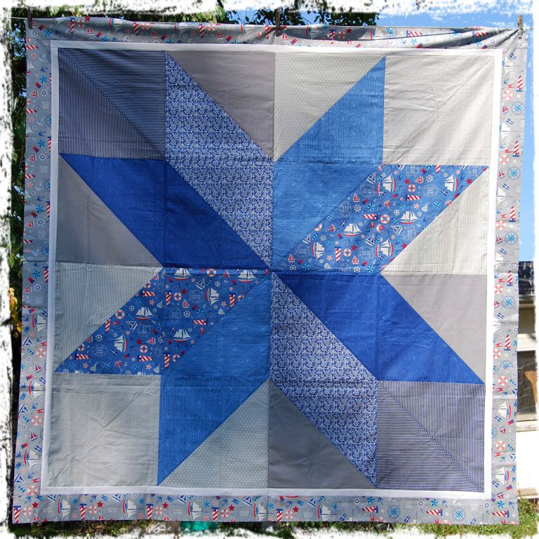 giant nautical star quilt top | snips snippets | Pinterest | Quilt ... : nautical star quilt pattern - Adamdwight.com