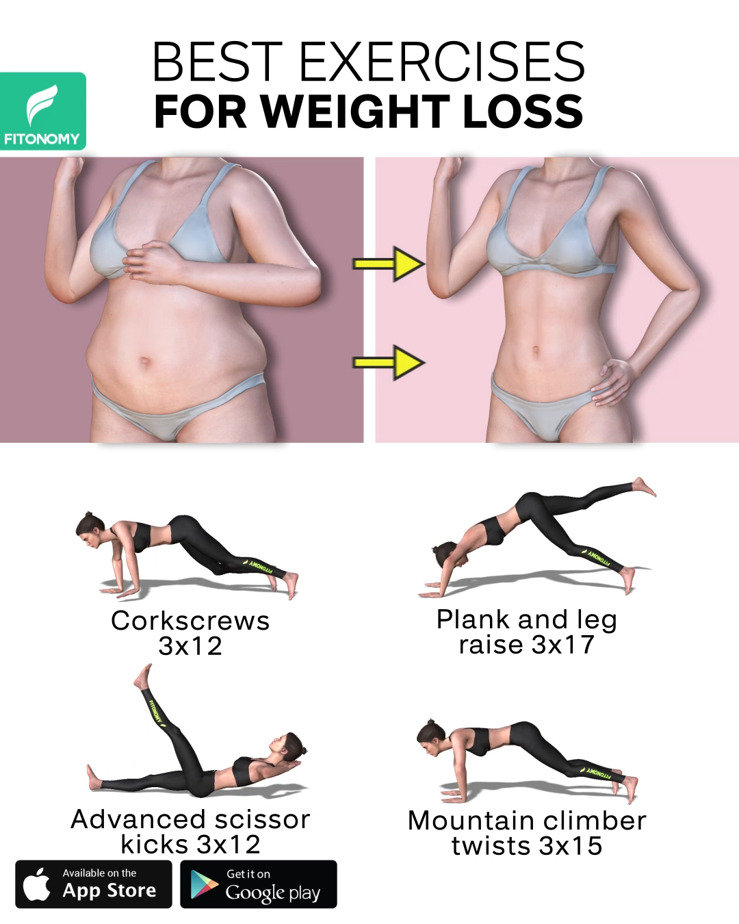 BEST EXERCISES FOR WEIGHT LOSS -   19 workouts for flat stomach for beginners ideas