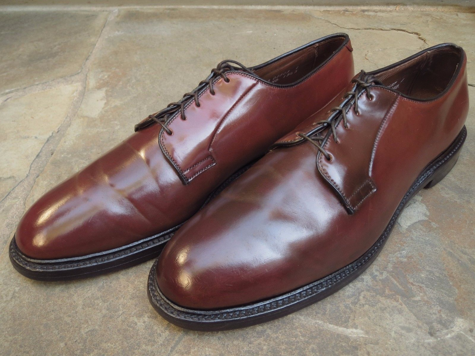 3c788e9d64d ... plain toe shoes brown 13 aa allen edmonds shoes Allen Edmonds Leeds  Shell Cordovan Plain Toe Shoes Brown 13 AA Allen Edmonds Shoes alden  cordovan shoes
