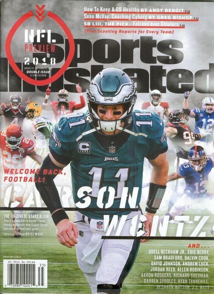Sports Illustrated September 3, 2018 Carson Wentz NFL