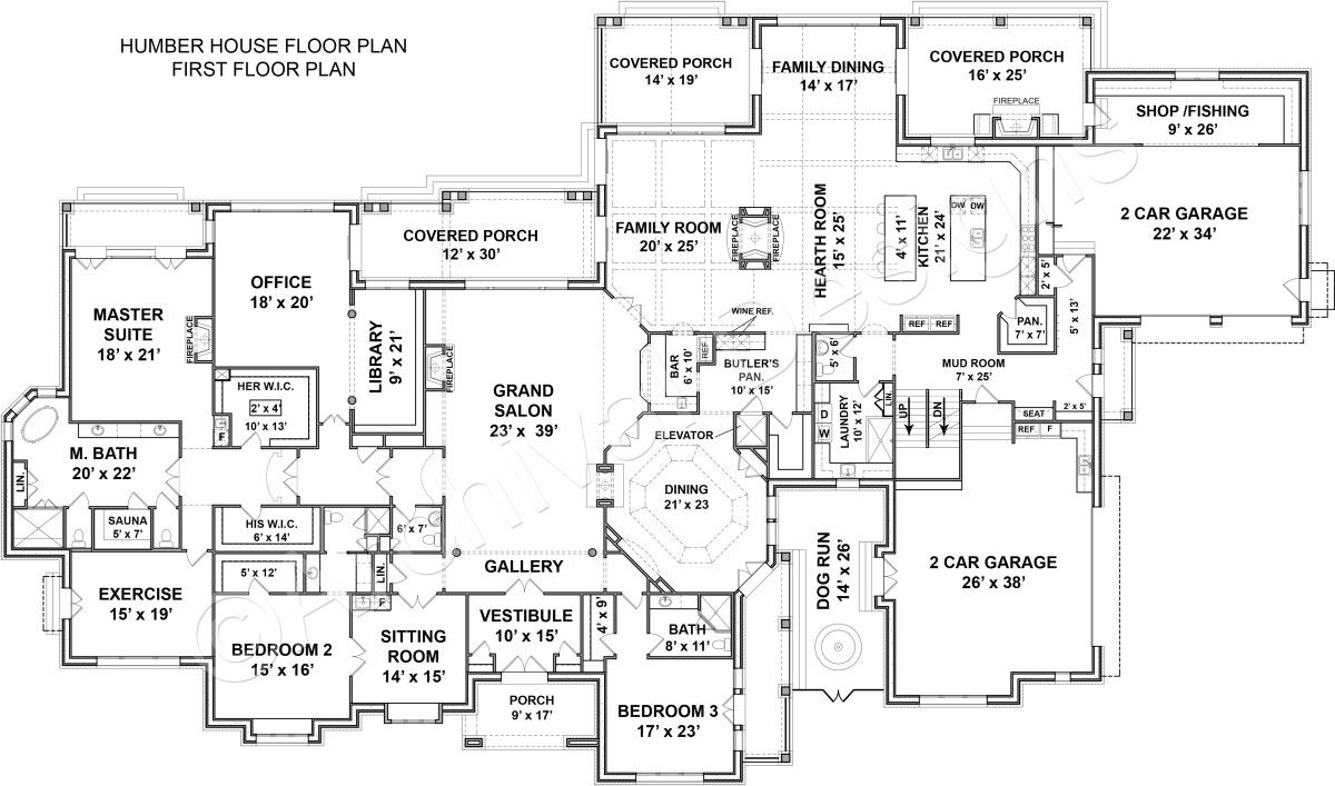 Humber House Plan First Floor Plan House Plans Mansion House Plans One Story Single Story House Floor Plans