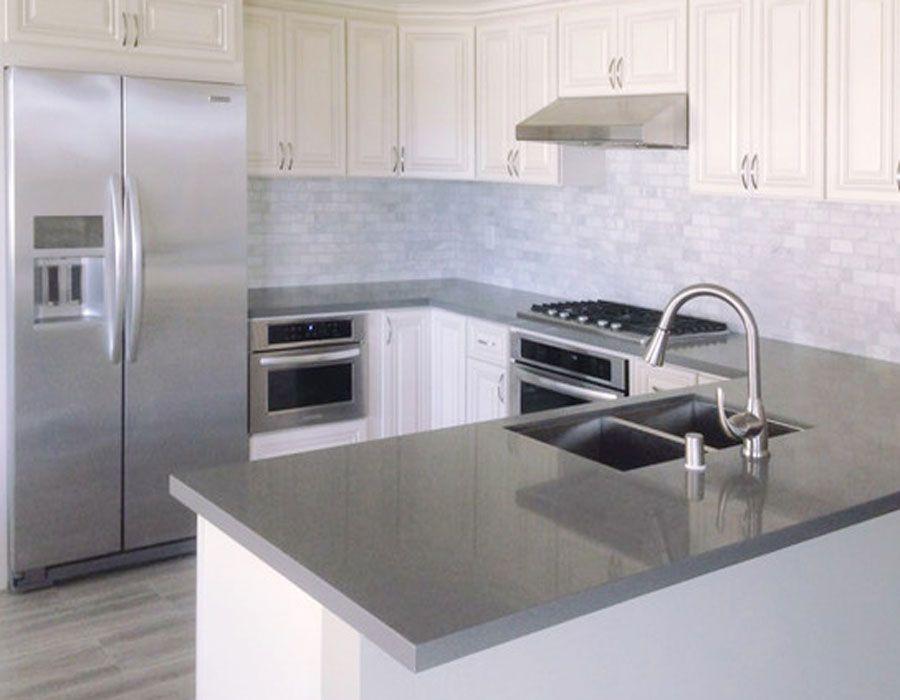 43+ White shaker cabinets grey countertops custom