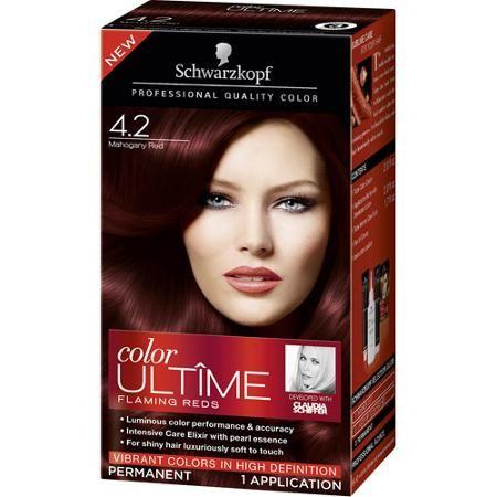 Schwarzkopf Color Ultime Flaming Reds Hair Coloring Kit, 4.2 ...