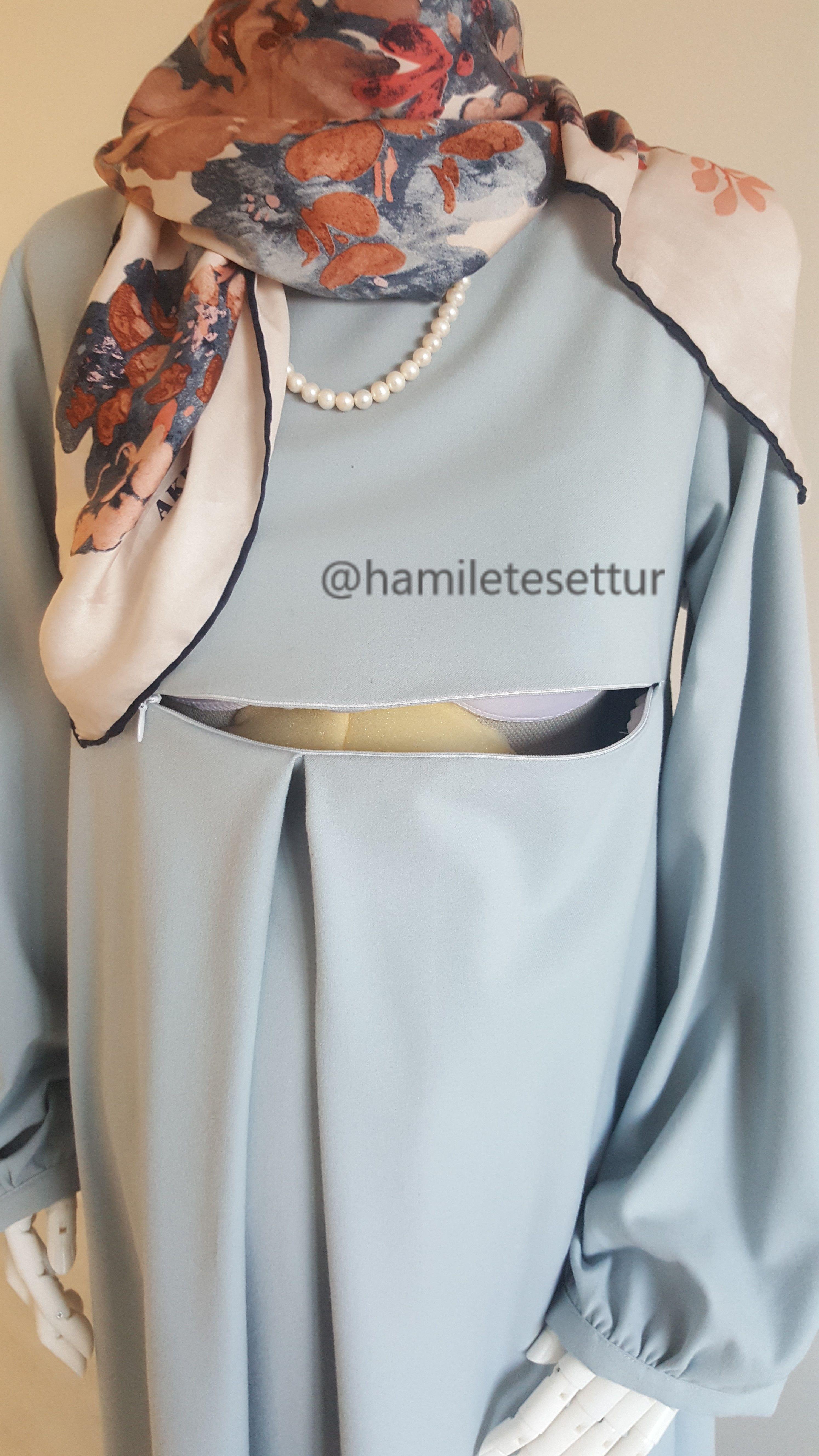 Hamile Tesettur Emziren Anne Islami Moda Sirin Elbiseler Moda