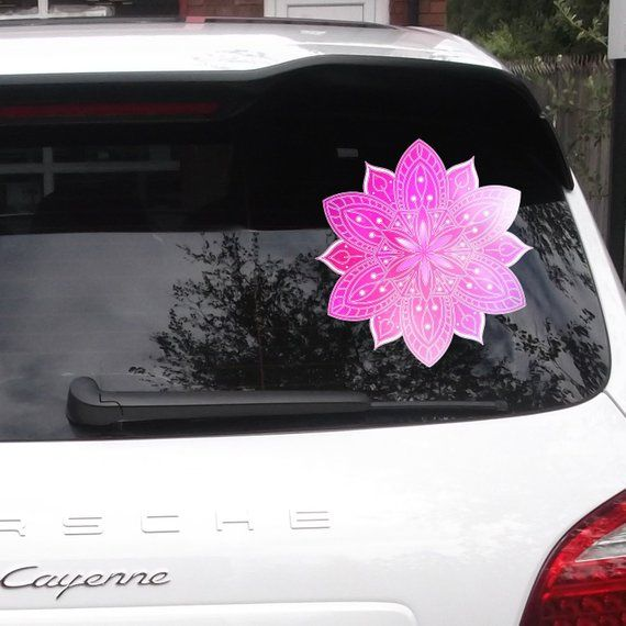Watercolor Mandala Mandala Car Decal Car Window Decal Car Decal