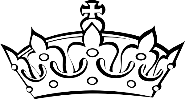 Queen Crown Clipart Black And White Clipart Panda Free Clipart I6nhxd Clipart Png 600 322 Crown Outline Crown Clip Art Crown Drawing