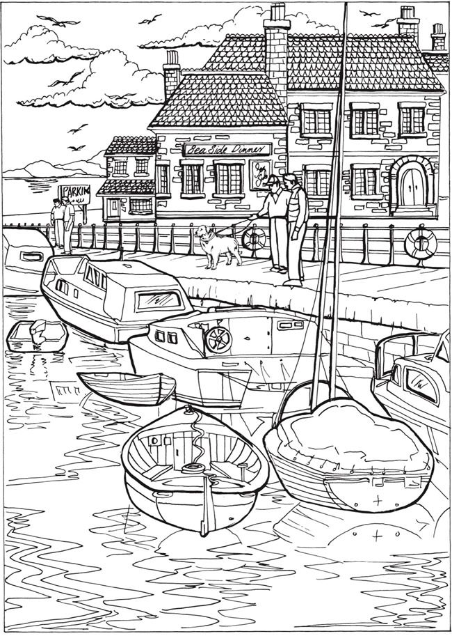 Welcome to Dover Publications Creative Haven Summer Scenes Coloring Book …