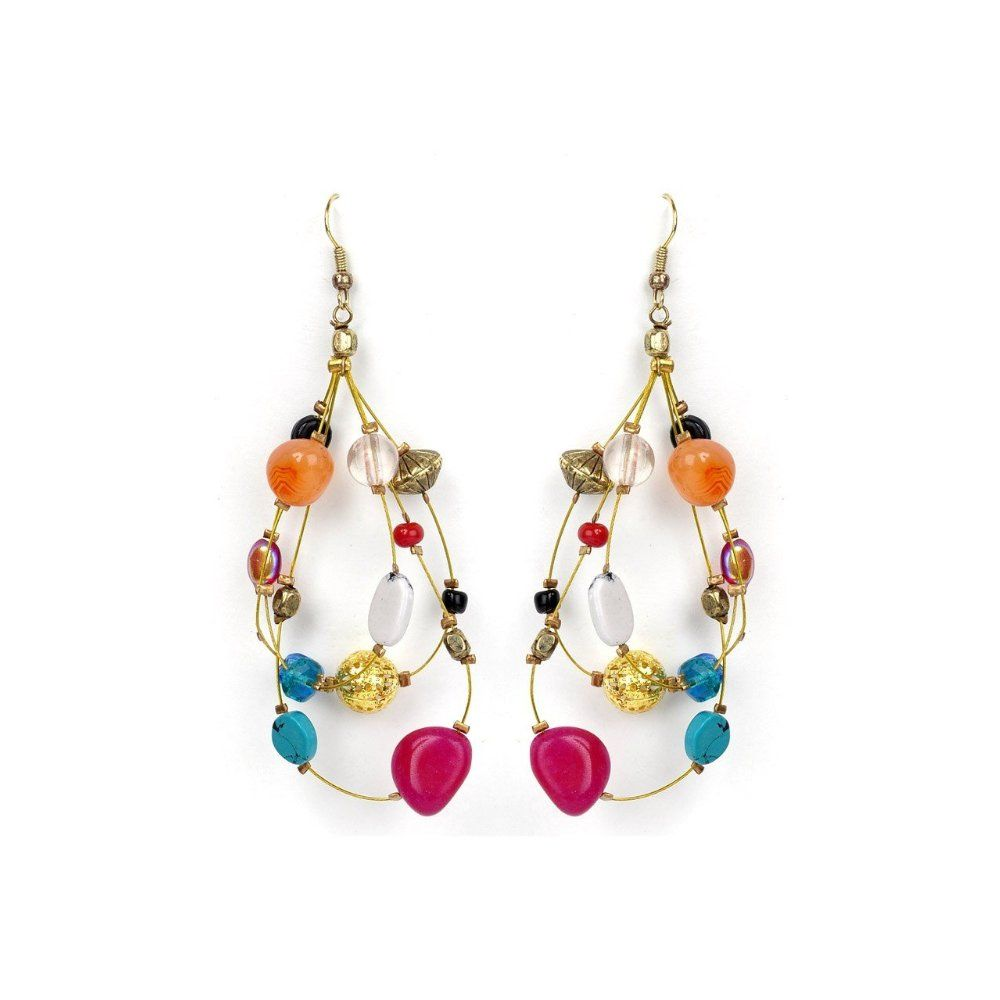 gemstone gisele earrings sales online products colour thin eshvi for colourful earring