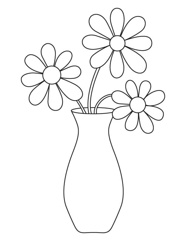 Coloring Pages Vase : Vase of flowers for beginning drawers google search