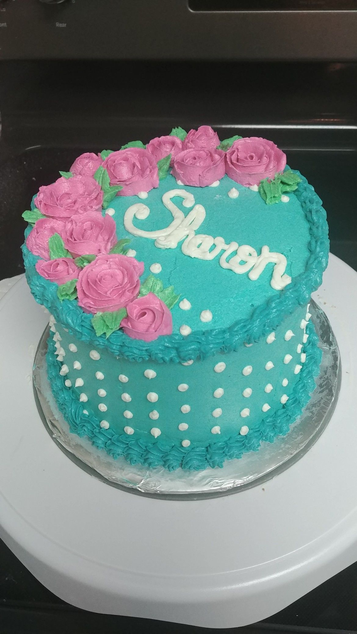 6 Inch Birthday Cake With Buttercream Frosting And Decorations